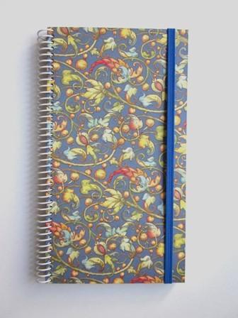 Cuaderno 11.5x21 forrado c/ gomilla