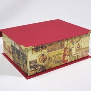 Caja con cantoneras. 15x20x7 cm