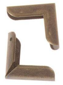 4 Cantoneras bronce lisas. 23x23 mm