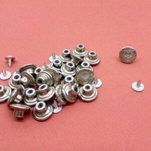 Botón vaquero níquel. 14 mm